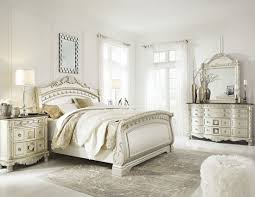 north shore pearl silver sleigh bedroom set
