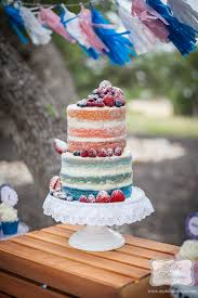 Rustic Naked Ombre Cake Austin