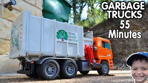 100 Youtube Truck Videos GARBAGE TRUCK For Children 55 Minutes Playing With Toys L