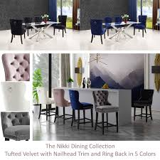 Nikki Dining Collection #dining #furniture #homedecor ... Chair Turquoise Leather Ding Chairs Blue Grey Set Of 2 Piper Mineral Beetle Unupholstered Gray Oak Base Kaylee Velvet With Black Legs Of Gubi Bluegrey Metal Harry Caseys Madeleine Dc Ding Chair Ethnicraft Etta Chair Dark Blue Lvet Upholstered Oak Legs Domenico Tufted Cushions Room Table Likable