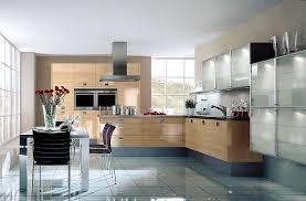 l form küche und hochschränke aus kernbuche hängeschränke