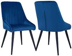 duhome 2er set esszimmerstuhl aus stoff samt stuhl retro design polsterstuhl mit rückenlehne metallbeine farbauswahl 8066 farbe blau material samt