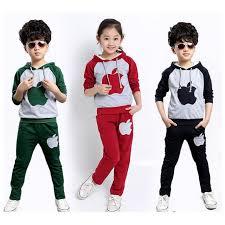 Tracksuit Boy New Korean Boys Sport Suit Autumn Winter Velvet Children Clothing Set Big Girl