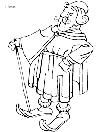 Ester Of The Bible Colouring Pages