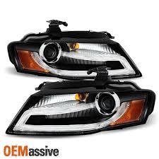 2009 2012 audi a4 s4 b8 sedan black drl led projector