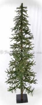 Item 360615 7 Foot Pre Lit Alpine Wood Trunk Primitive Country Christmas Tree