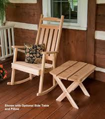 Classic Pa's Porch Rocker Hand-Crafted From Red Cedar Wood ... Black Palm Harbor Wicker Rocking Chair Abasi Porch Rocker Unfinished Voyageur Twoperson Adirondack Appalachian Style Chairs Havenside Home Del Mar Acacia Wood And Side Table Set Natural Outdoor Log Lounge Companion For Garden Balcony Patio Backyard Tortuga Jakarta Teak Palmyra Gliders Youll Love In Surfside Unfinished Childrens Rocking Chair Malibuhomesco Caan