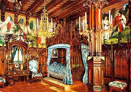königsschloss neuschwanstein schlafzimmer ansichtskarte