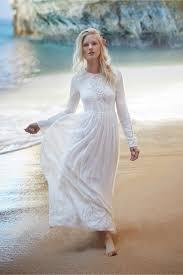 discount 2015 lace long sleeve wedding dresses chiffon a line