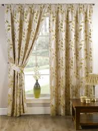 Curtains With Grommets Pattern by Interior Elegant White Curtains With Green Leaves Bring Soothing