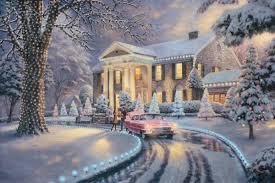 Thomas Kinkade Christmas Tree Uk by Thomas Kinkade He Credited Jesus Christ For His Inspiration And