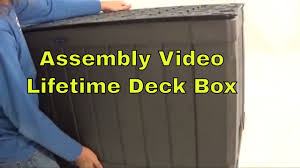 Keter Glenwood Deck Box Assembly by Lifetime 60089 Outdoor Deck 116 Gallon Brown Storage Box Assembly