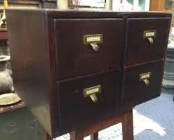 library bureau antique oak library bureau sole makers dovetailed 4 drawer card