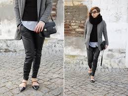 women u0027s grey wool blazer black turtleneck white dress shirt