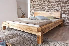 bett doppelbett balkenbett wildeiche massiv schlafzimmer balken rustikal 200x200 yatego