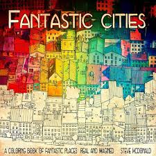 Coloring Book For Adults Features Intricate Aerial Views Of Cities Architecture