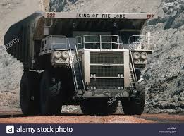 Giant Truck Hauling 240 Tons Of Coal In The Black Thunder Opencast ...