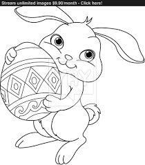 Easter Bunny Coloring Pages Page Vector Yayimages Of Animals