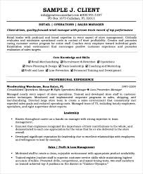 Manager Resume Sample Templates