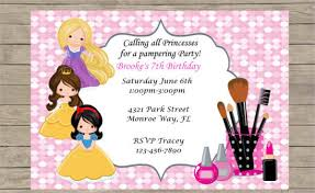 Spa Party Invitations Templates Free Lovely Pamper Sweetkingdom