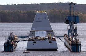 Uss America Sinking Photos by Uss Zumwalt Hits The Water As Largest Navy Destroyer Ever