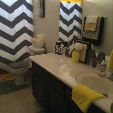 Gray Chevron Bathroom Decor by Gray And Yellow Bathroom Ideas Beautiful Black And White Bathroom