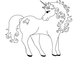 Click To See Printable Version Of Lovely Unicorn Coloring Page