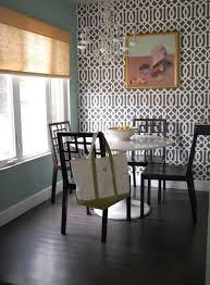 Wall Design Dining Room Wallpaper Pattern Roman Shade