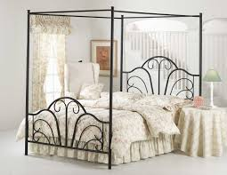 Wrought Iron King Headboard by Bedroom Silver Wrought Iron Canopy Bed Which Mixed With Red