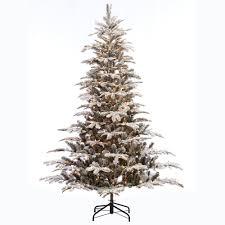 Pre Lit Incandescent Aspen Green Fir Flocked Artificial Christmas Tree With 700
