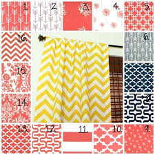 Yellow And White Chevron Curtains by Coral Chevron Curtains U2013 Teawing Co