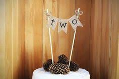 Two Cake Topper 2nd Birthday Age Rustic Party