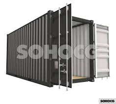 100 Shipping Container Model High Cube 20ft 3D