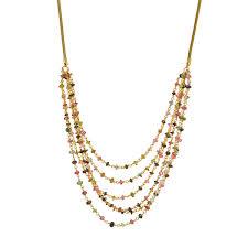 Gemstone Chandelier Necklace Handmade Statement Jewelry Unique