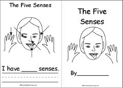 The Five Senses A Printable Book