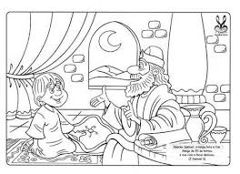 Samuel Bible Coloring Pages Sketch Template Hannah And