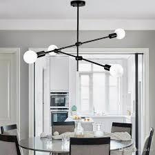 großhandel moderne hängele licht led esszimmer schlafzimmer foyer runde glaskugel schwarz gold nordisch einfache moderne pendelleuchte le