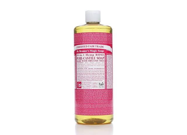 Dr. Bronner's Magic Soaps Pure-Castile Liquid Soap, Rose - 32 fl oz bottle
