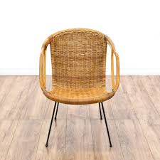 Equipale Chairs Los Angeles by Woven Wicker Mid Century Modern Basket Chair Loveseat Vintage