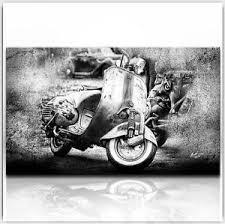 vespa scooter roller motorrad 120 x 70 cm bild auf leinwand