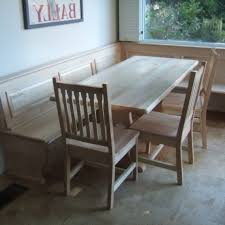 93 Dining Room L Bench Table Shaped Kitchen With Back Plans