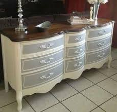 Painted French Provincial Dresser I Think Would Like It With The Colors Reversed
