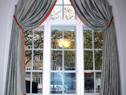 Arched Or Curved Window Curtain Rod Canada by Arched Window Treatments Floor Half Circle With Drapes Semi Blinds