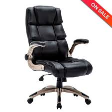 LCH Ergonomic High Back Leather Office Chair Adjustable Padded Flip ... Classic Leather Executive Office Chair Rapid Fniture Shop Highback Traditional Tufted Osp Black Bonded With Wood Trim L Amazoncom Halter Hal007 Eames Style Cream Faux Mulberry Moon Made For Comfort Ez Brown Taupe 500lb High Back Go2092m1tpgg Bizchaircom Staples Giuseppe Ea119 Chair Design Seats Buy Designer Flow Hon Atwork Canada