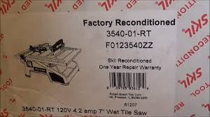 review of skil 7 wet tile saw 3540 01 rt reconditioned