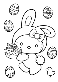 Click To See Printable Version Of Hello Kitty Easter Bunny Coloring Page