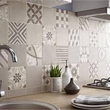 carrelage ceramique leroy merlin carrelage sol et mur beige décor elliot l 15 x l 15 cm leroy merlin
