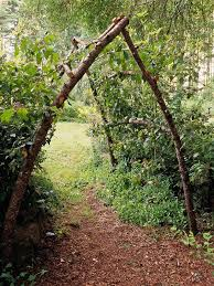 Rustic Garden Arbor Out Of Sticks Could Totally Make This