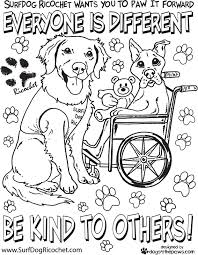 Surf Dogs Anti Bullying Campaign Dog Ricochet The Surfice Coloring Page Respect