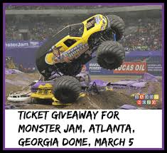 Ticket Giveaway For Monster Jam, Atlanta, Georgia Dome, March 5